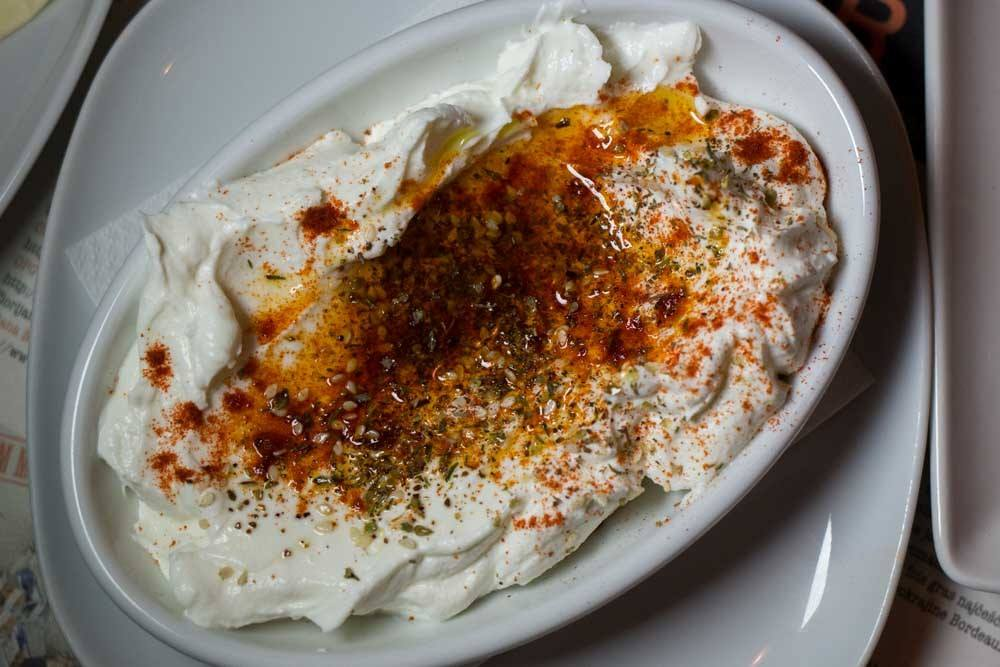 Labneh at Mali Bar in Zagreb Croatia