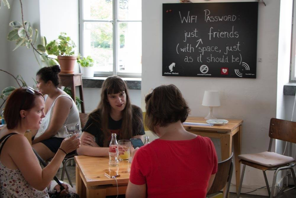 Museum of Broken Relationships Cafe in Zagreb Croatia