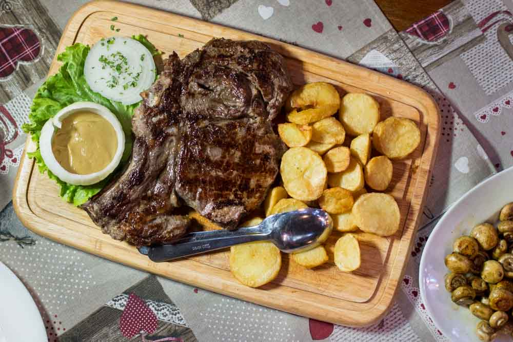 Steak for Two at Pri Zvoncu in Zagreb Croatia
