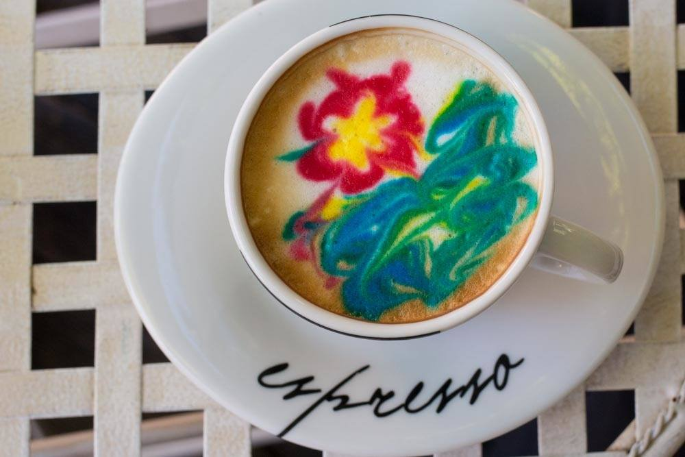 Summer Flower Coffee at Sjedi 5 in Zagreb Croatia