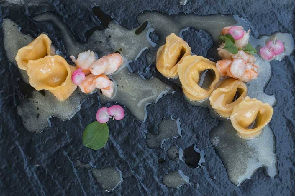 Tortellini with Adriatic Shrimp at Bistro Apetit in Zagreb Croatia