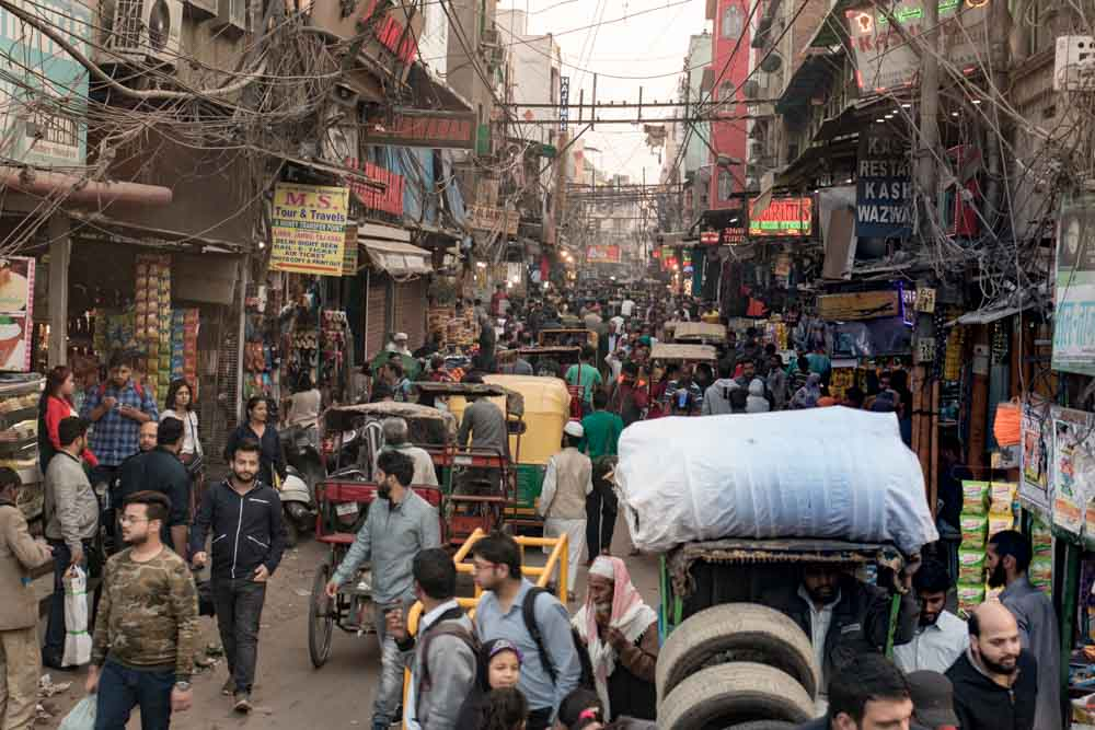 Chandni Chowk Market in Old Delhi India