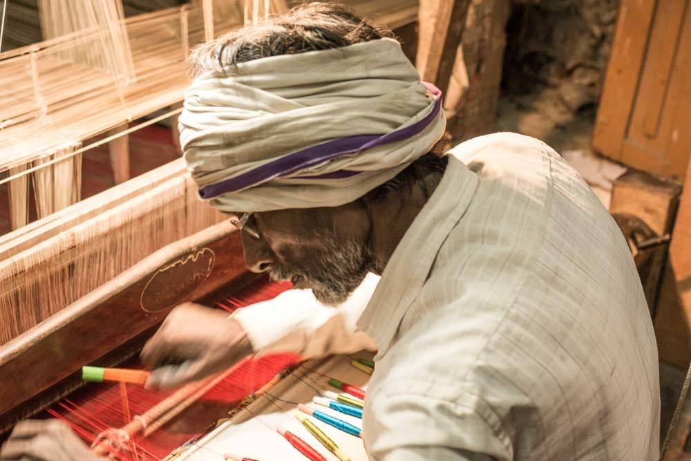Indian Weaver in Varanasi