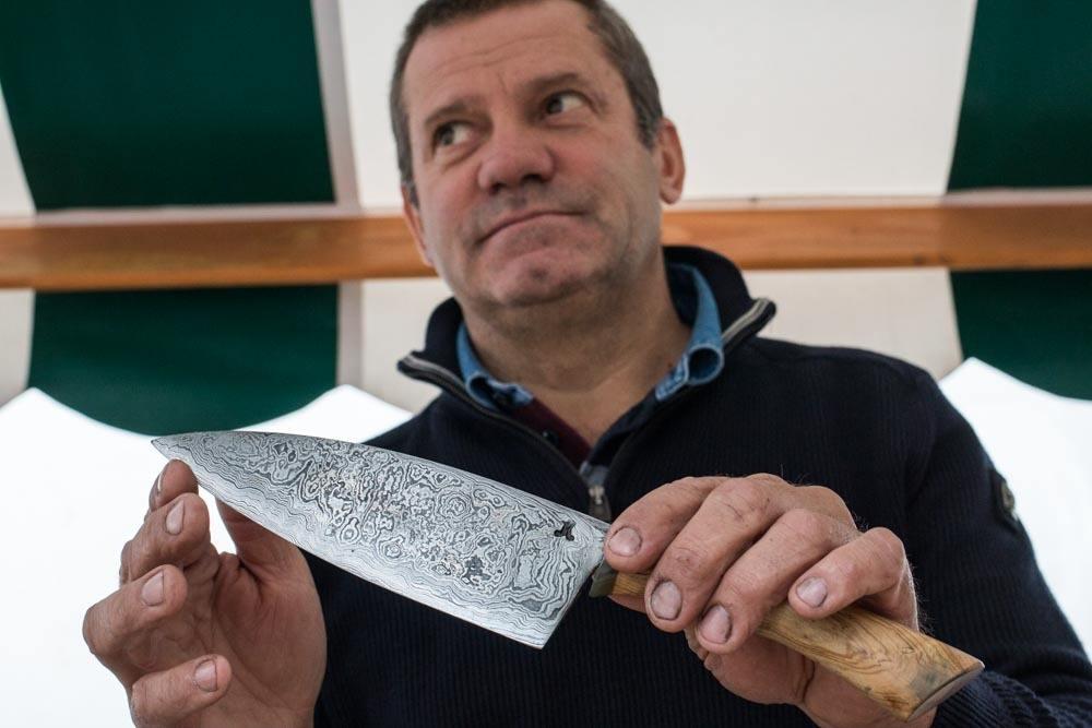 Knifemaker Joze Krmelj in Ljubljana Slovenia