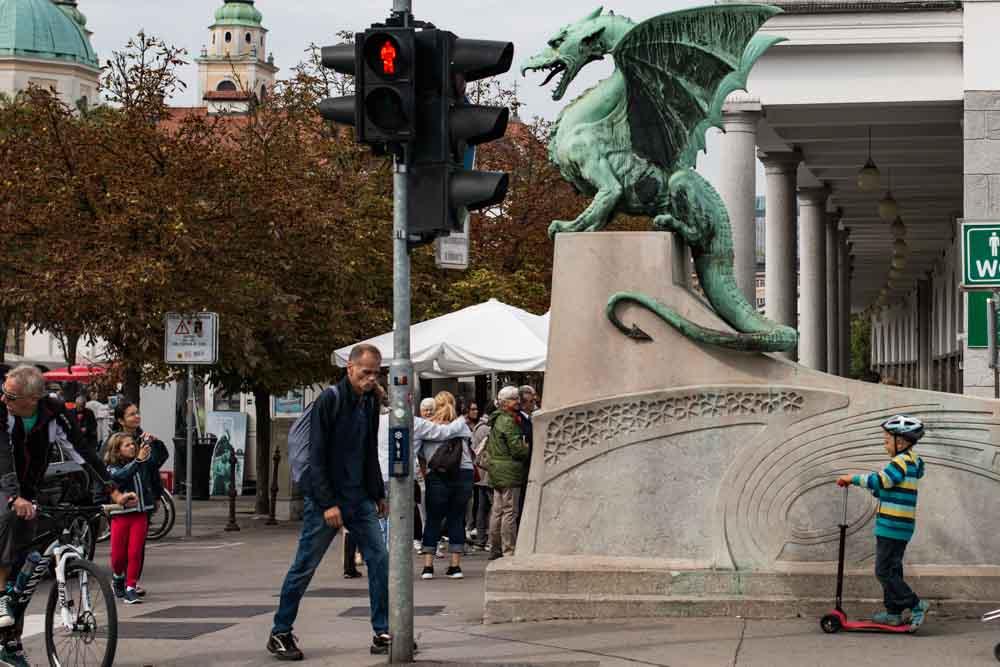 Dragon in Ljubljana Slovenia