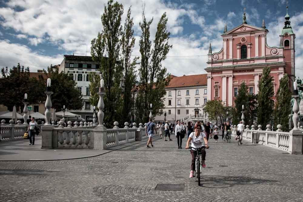 Triple Bridge in Ljubljana Slovenia