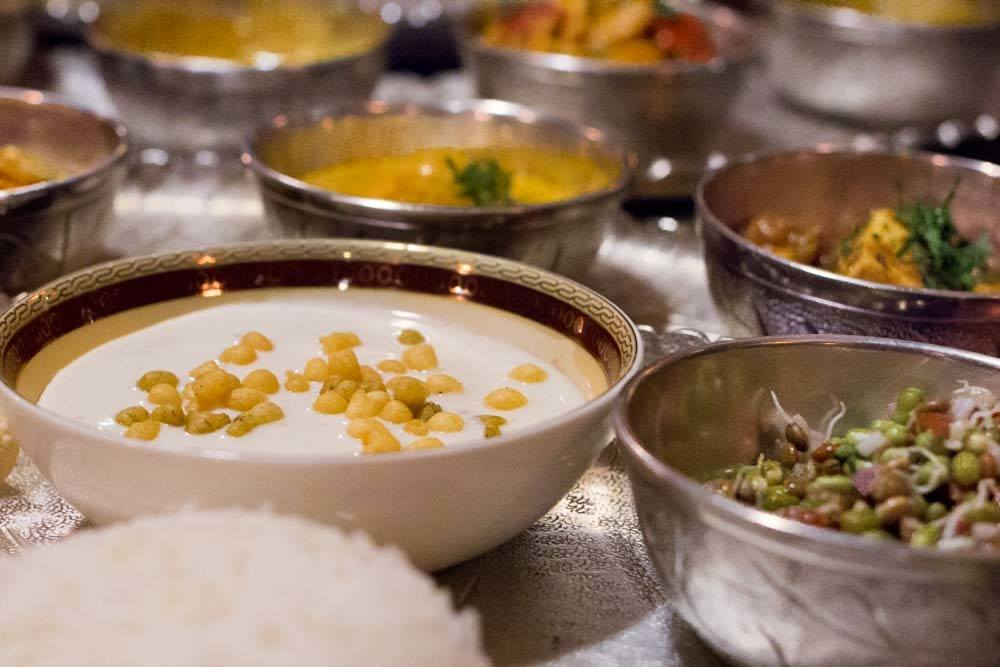 Maharajas Express Thali Dinner