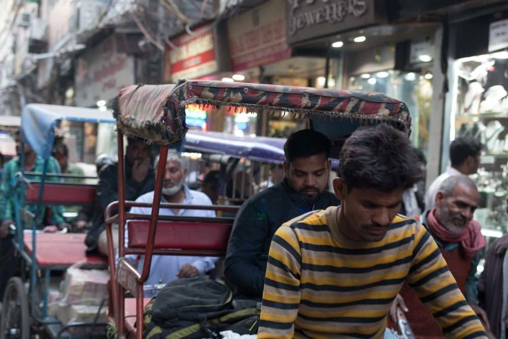 Rickshaw in Old Delhi India