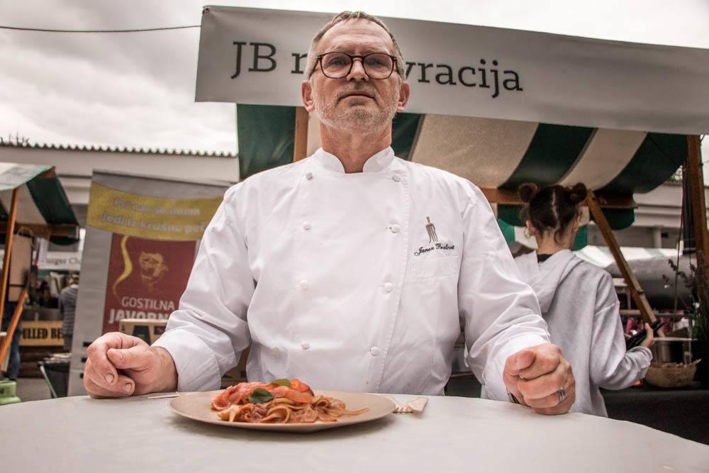 Open Kitchen - Chef Janez Bratovz in Ljubljana Slovenia
