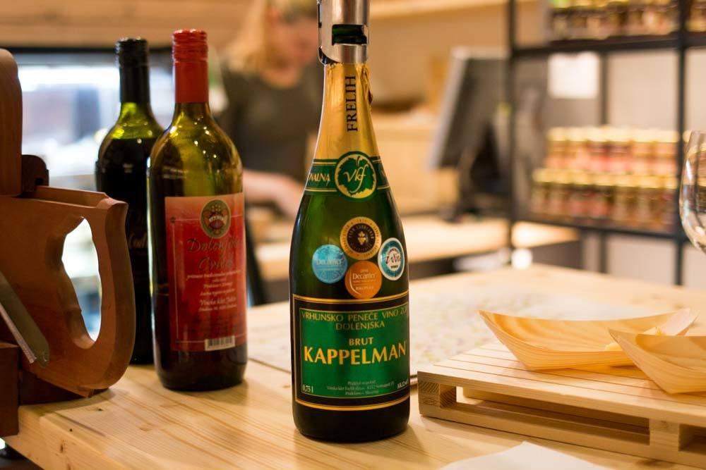 Wine at Dobrote Dolenjske in Ljubljana Slovenia