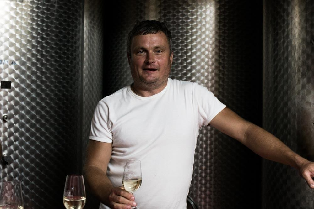 Winemaker Samuel Malnaric in Slovenia