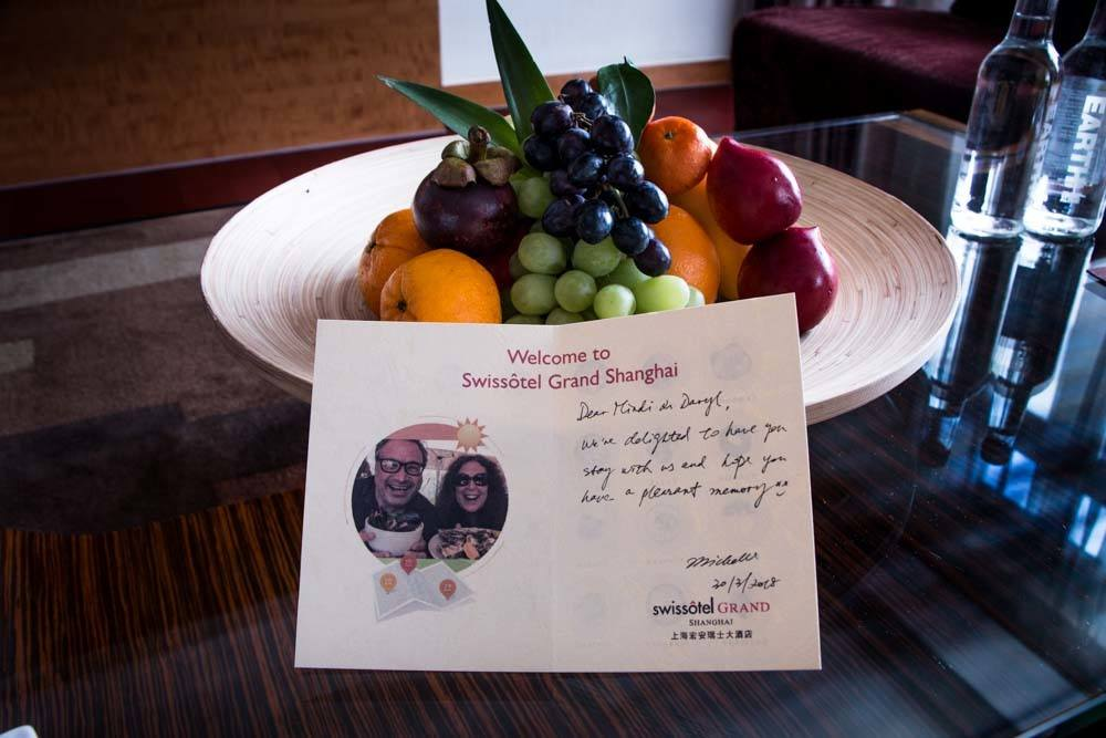 Swissotel Grand Shanghai Welcome Fruit