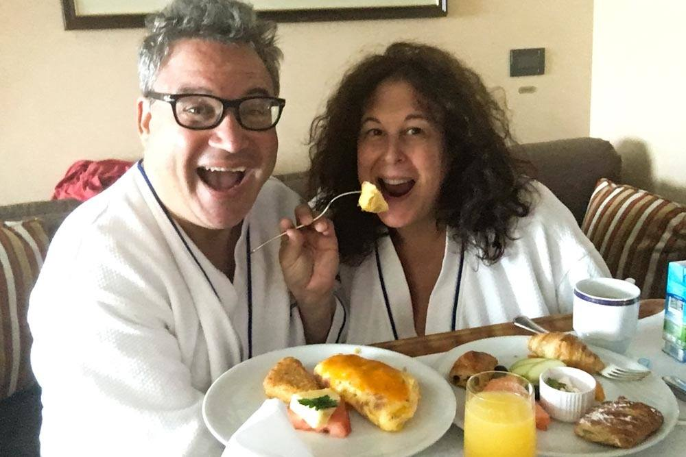 Holland America Cruise Breakfast Selfie