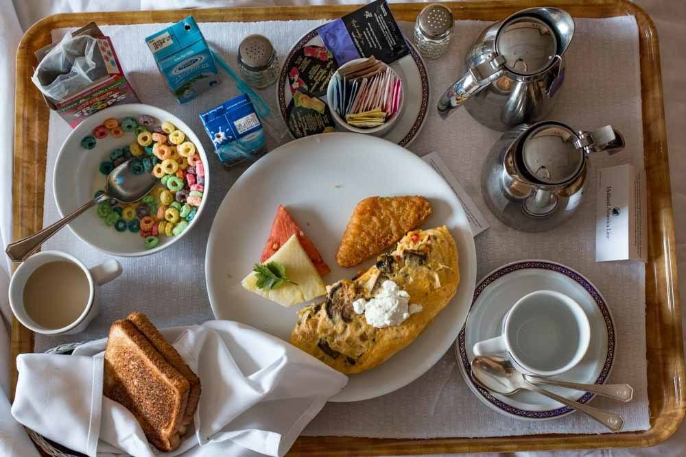 Holland America Cruise Breakfast in Bed