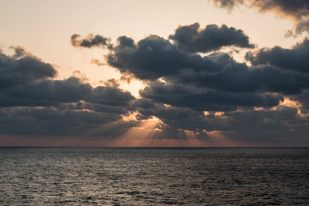 Holland America Cruise Sunset with Clouds