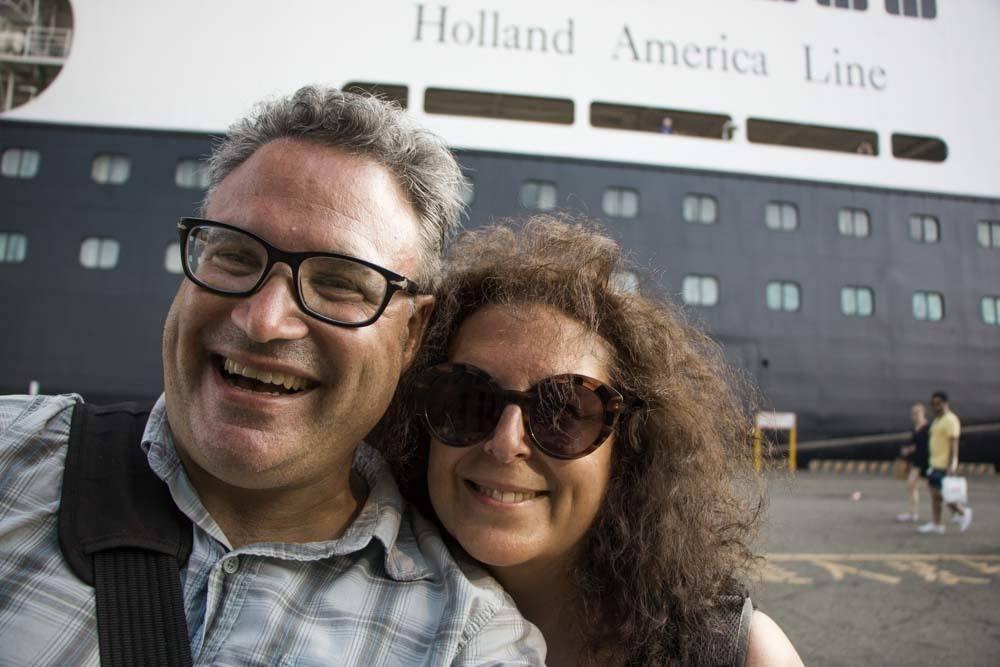 Holland America Cruise Volendam Ship Selfie