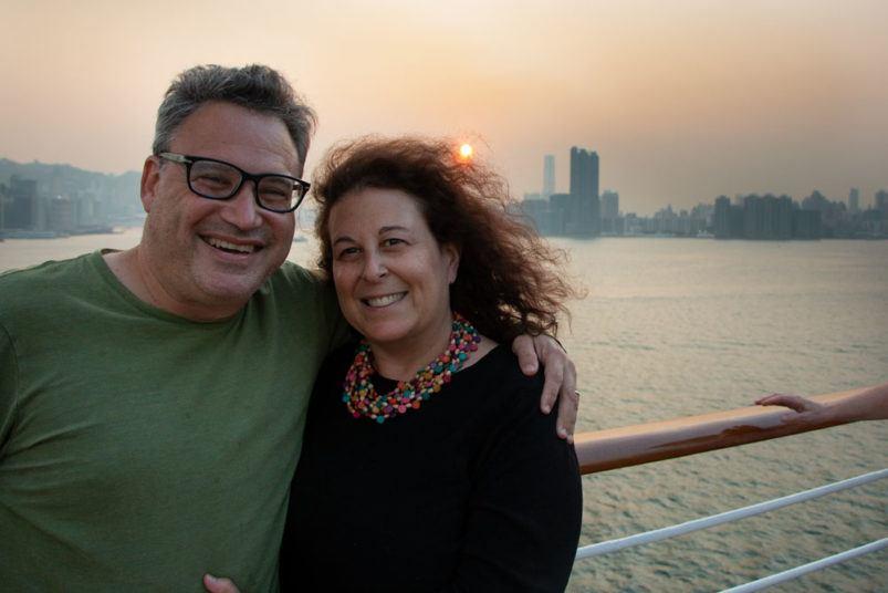 Holland America Cruise Volendam Sunset Selfie