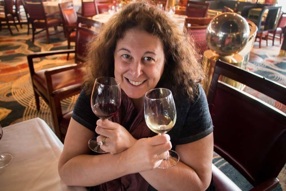 Holland America Cruise Wine Tasting Selfie