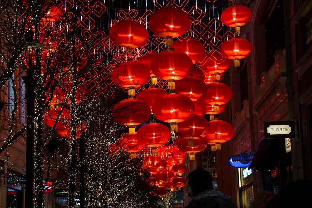 Hong Kong Lanterns at Night