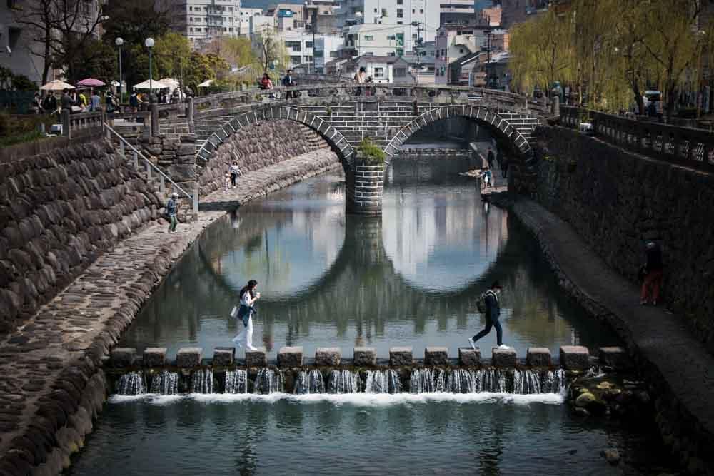 Pedestrian Bridge in Nagasaki Japan