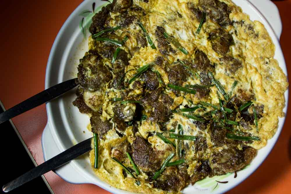 Oyster Omelet in Maniia Phillipines