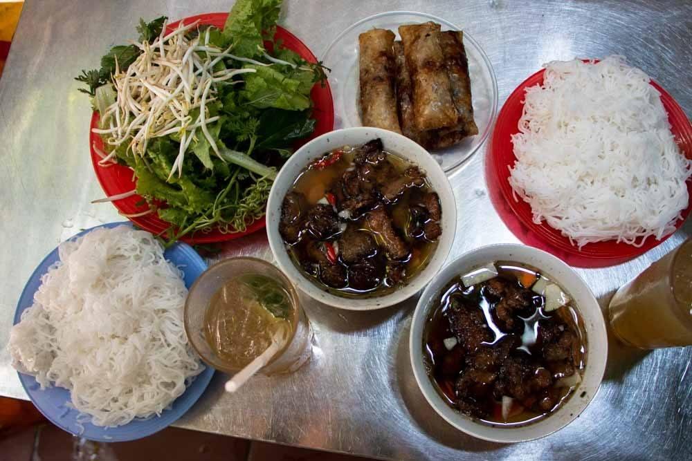 Bun Cha at Bun Cha Quat in Hanoi Vietnam