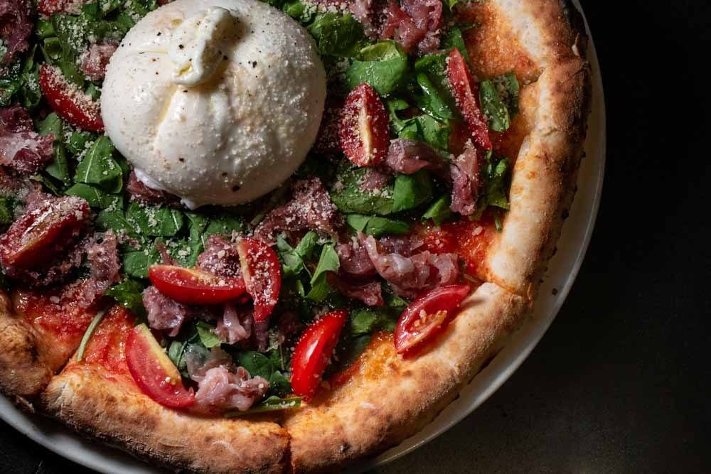 Burrata Pizza at Pizza 4P's in Hanoi Vietnam