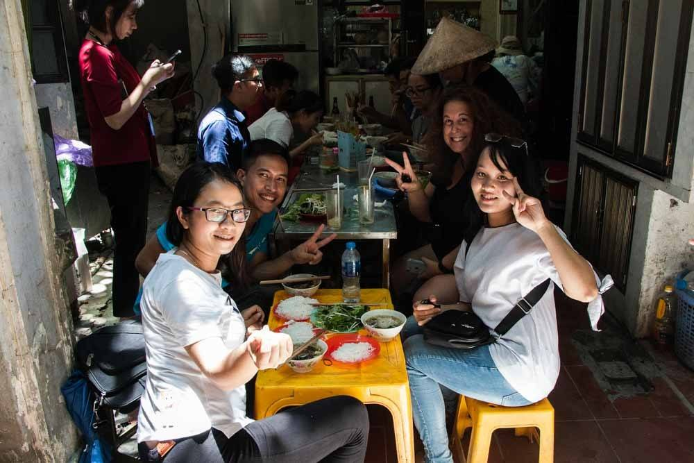 Street Food Restaurant in Hanoi Vietnam