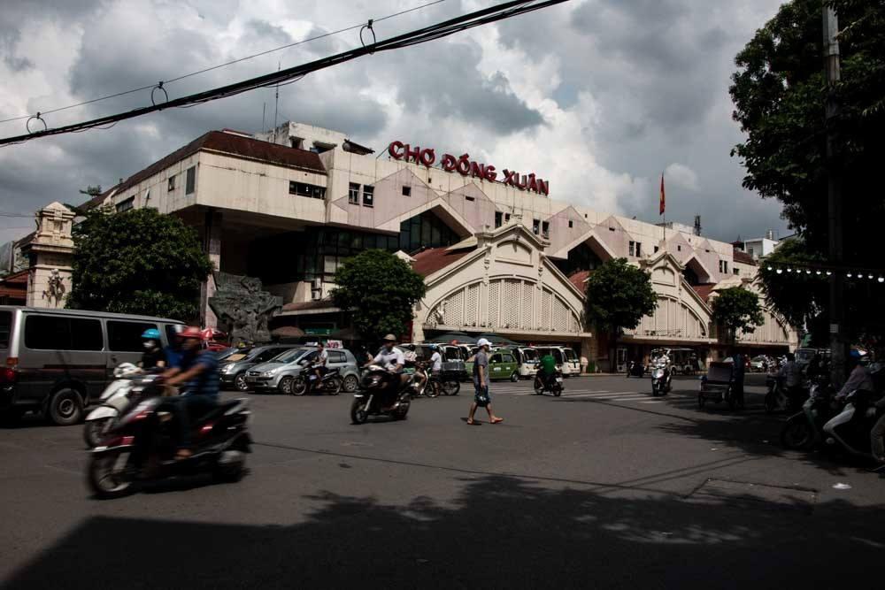 Market Building in Hanoi Vietnam