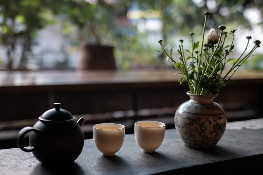Tea at Thuong Tra Quan in Hanoi Vietnam