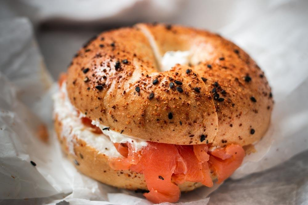 Bagel and Lox at Knead Bagels in Philadelphia