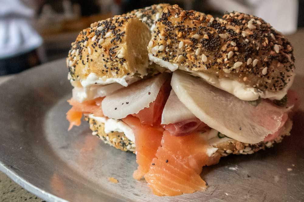 Bagel and Lox at Philly Style Bagels in Philadelphia
