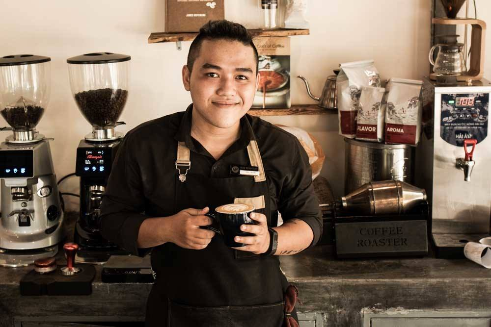 Barrista at Why Roastery in Danang Vietnam