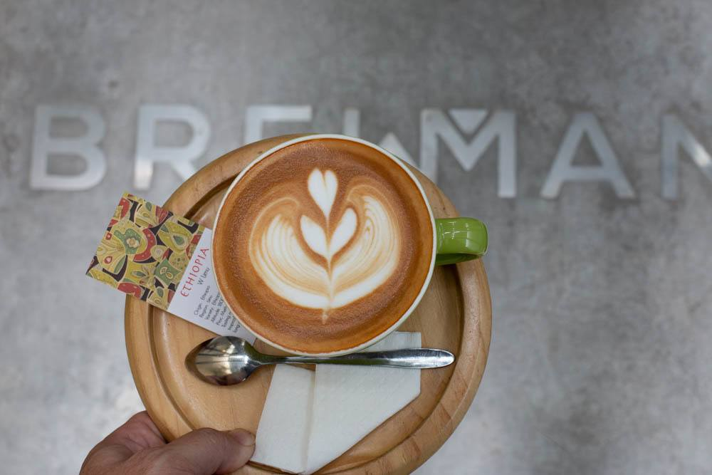 Cappuccino at Brewman Coffee Concept in Danang Vietnam