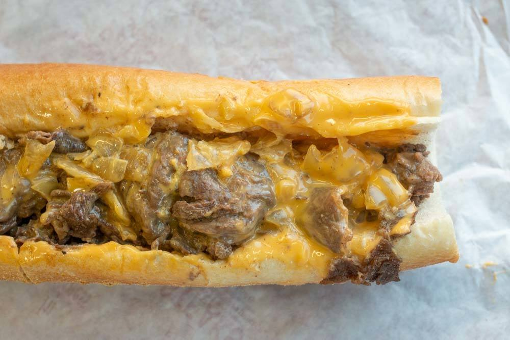 Cheesesteak at Pat's in Philadelphia