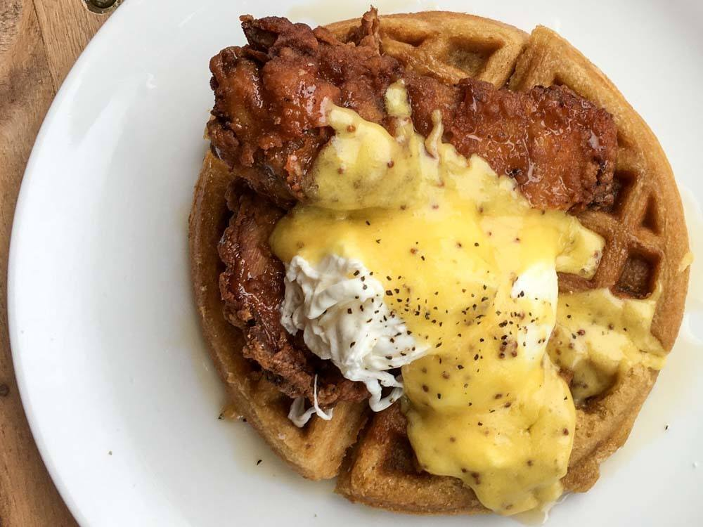 Chicken Waffle at On Point Bistro in Philadelphia