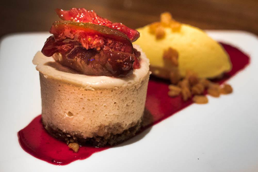 Figgy Cheesecake at Vedge in Philadelphia
