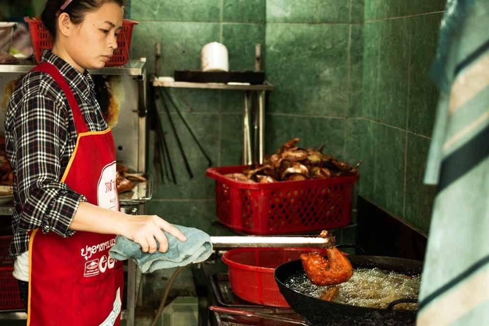 Employee at Com Ga A Hai in Danang Vietnam