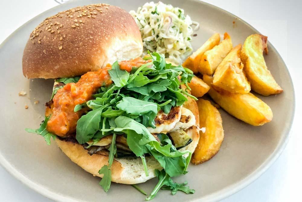 Halloumi Burger at Federal Cafe in Valencia