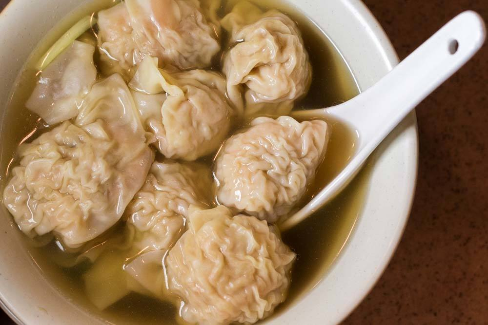 Dumplings in Soup at Hong Kong Diner