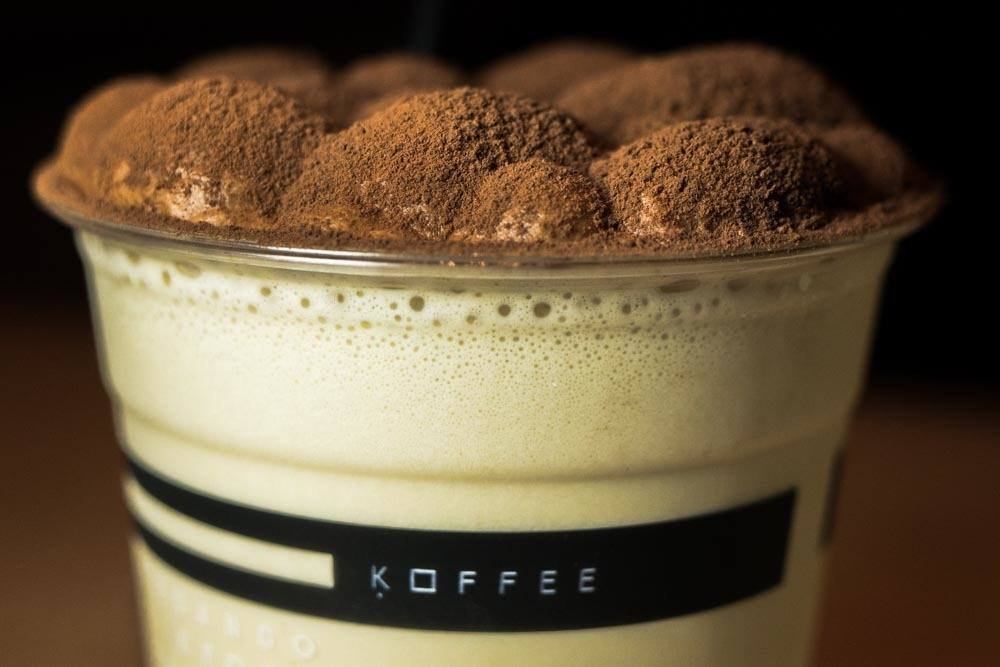 Iced Latte at Omotesando Koffee in Hong Kong