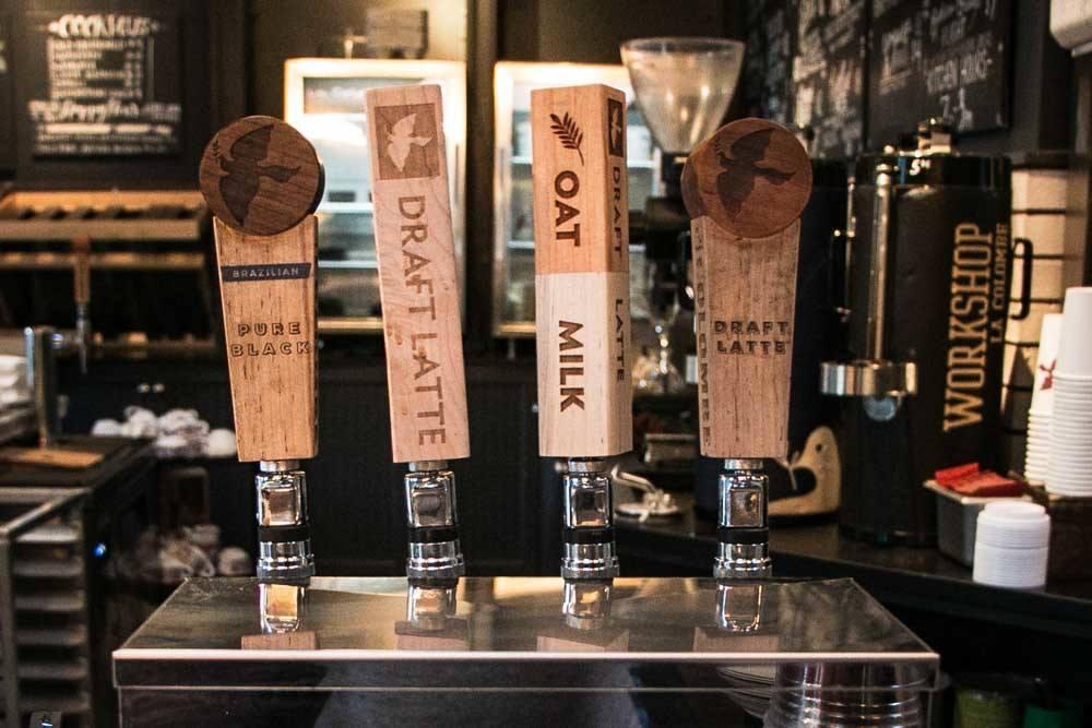 Latte Taps at La Colombe in Philadelphia