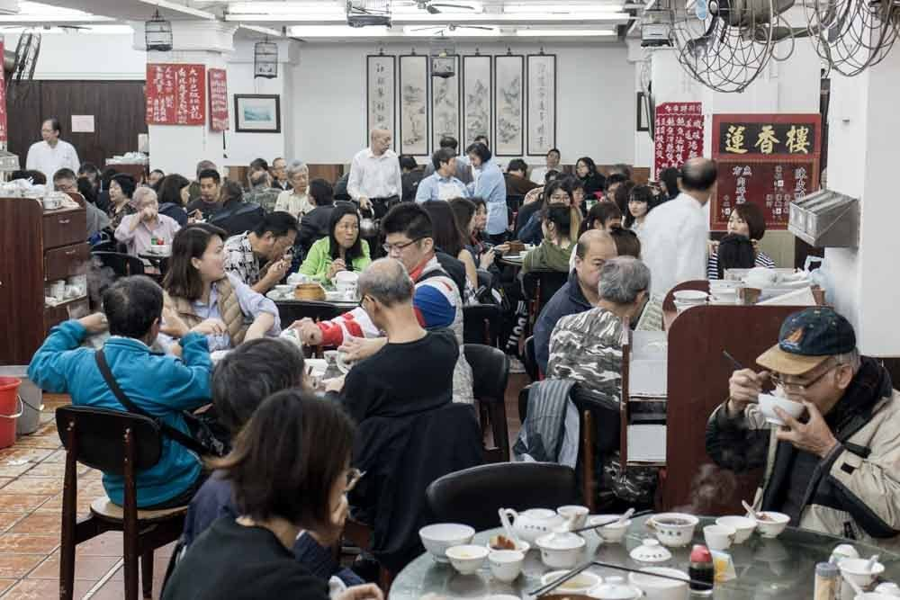 Lin Heing Tea House Dining Room in Hong Kong