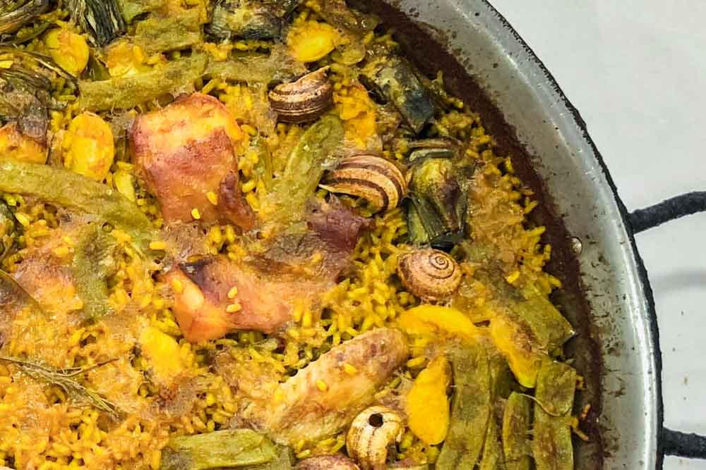 Paella Valenciana at L'Estimat in Valencia Spain