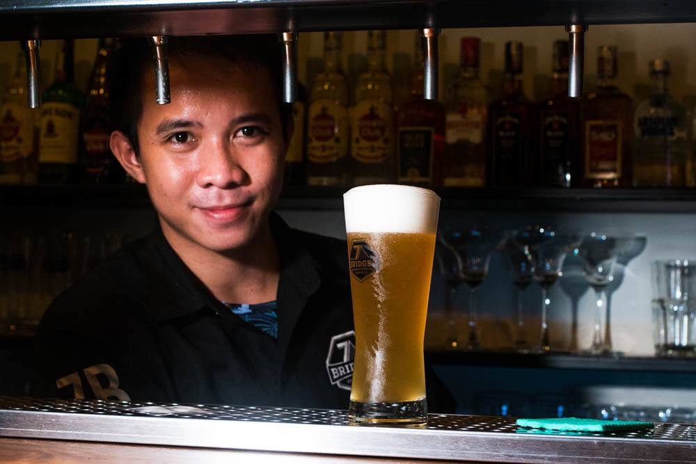 Bartender at 7 Bridges in Da Nang Vietnam