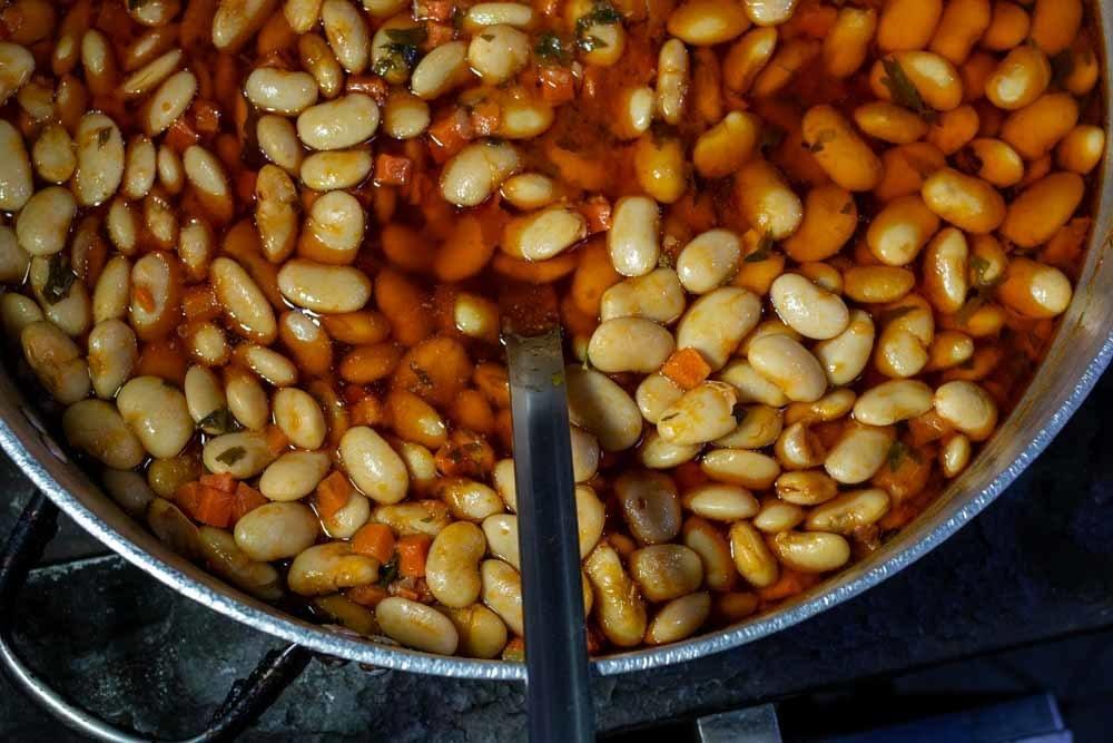 Gigantic Beans at Meteora Restaurant In Meteora Greece