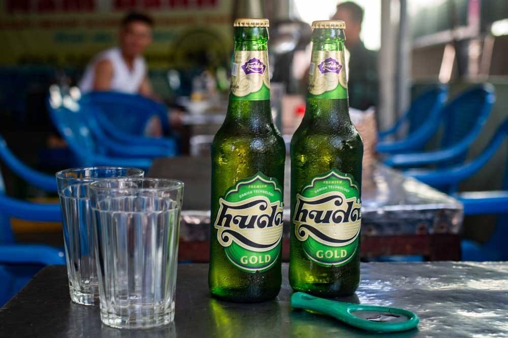 Beer at Nam Danh Seafood in Da Nang Vietnam