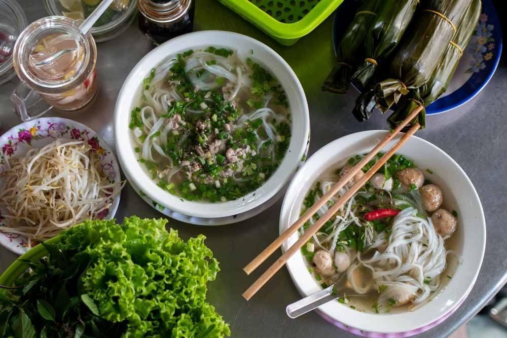 Breakfast at Pho 75 in Da Nang Vietnam