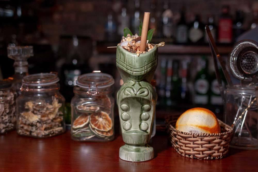 Cocktail at Wanderlust Cafe in Da Nang Vietnam