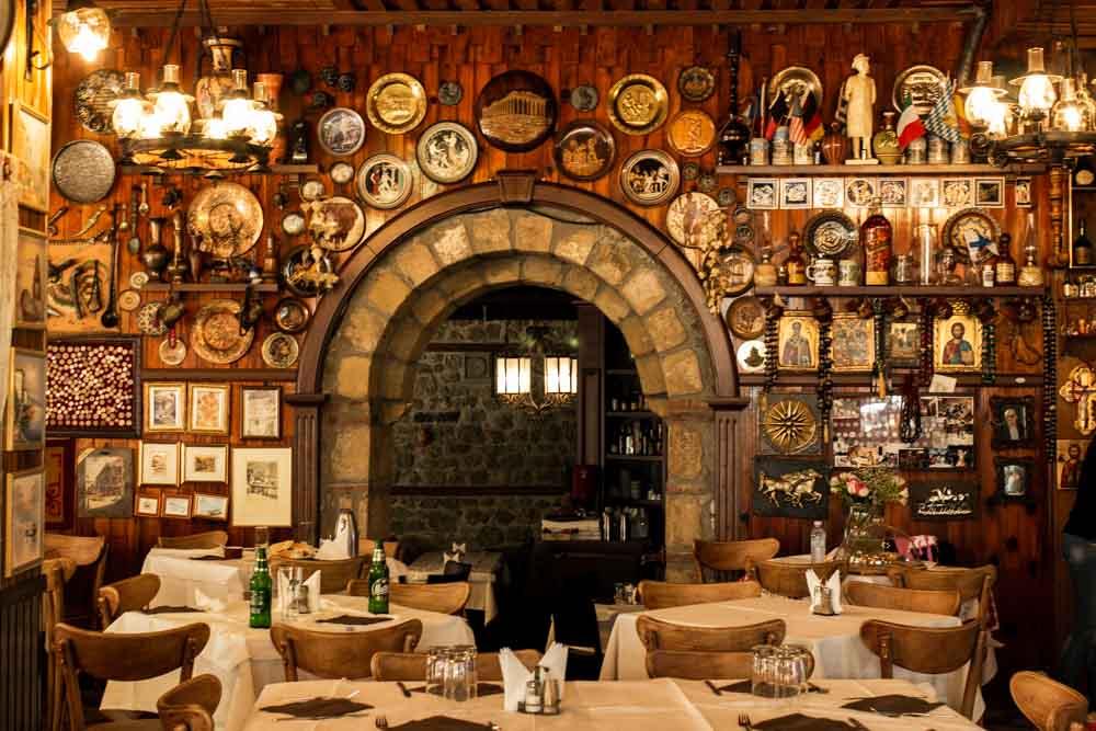 Dining Room at Meteora Restaurant in Meteora Greece